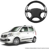 Autofurnish (AFSC-712 Flake Black) Leatherite Car Steering Cover For Maruti WagonR