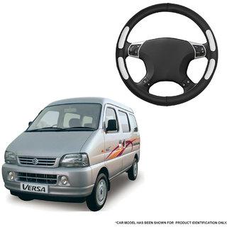 Autofurnish (AFSC-712 Flake Black) Leatherite Car Steering Cover For Maruti Versa