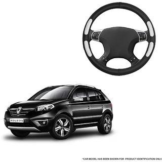 Autofurnish (AFSC-712 Flake Black) Leatherite Car Steering Cover For Renault Koleos