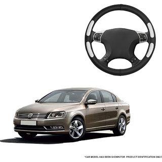Autofurnish (AFSC-712 Flake Black) Leatherite Car Steering Cover For Volkswagen Passat