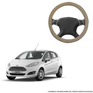 Autofurnish (AFSC-713 Sorrel Beige) Leatherite Car Steering Cover For Ford Fiesta
