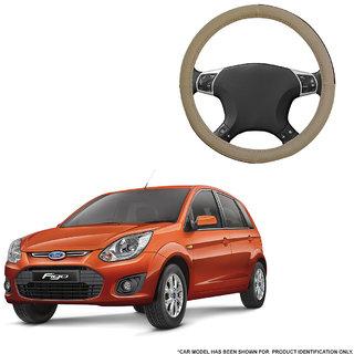 Autofurnish (AFSC-713 Sorrel Beige) Leatherite Car Steering Cover For Ford Figo