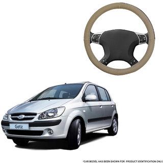 Autofurnish (AFSC-713 Sorrel Beige) Leatherite Car Steering Cover For Hyundai Getz