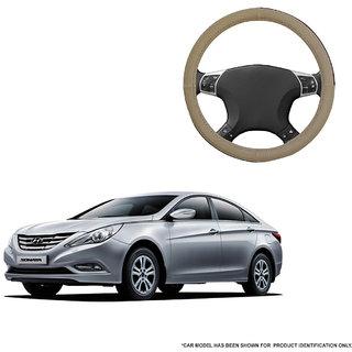 Autofurnish (AFSC-713 Sorrel Beige) Leatherite Car Steering Cover For Hyundai Sonata Transform