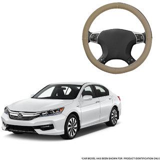 Autofurnish (AFSC-713 Sorrel Beige) Leatherite Car Steering Cover For Honda Accord