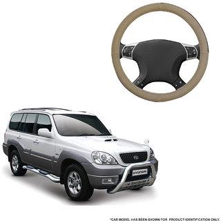 Autofurnish (AFSC-713 Sorrel Beige) Leatherite Car Steering Cover For Hyundai Terracan