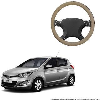 Autofurnish (AFSC-713 Sorrel Beige) Leatherite Car Steering Cover For Hyundai i20