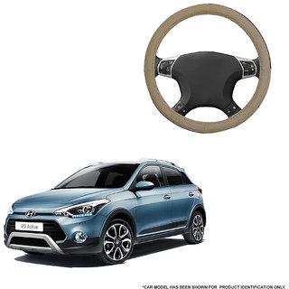 Autofurnish (AFSC-713 Sorrel Beige) Leatherite Car Steering Cover For Hyundai i20 Active