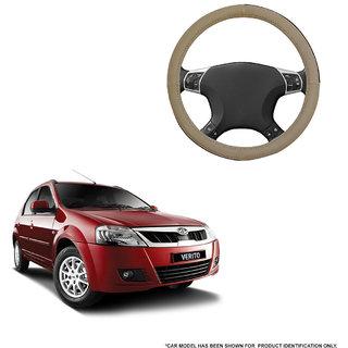 Autofurnish (AFSC-713 Sorrel Beige) Leatherite Car Steering Cover For Mahindra Verito