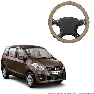 Autofurnish (AFSC-713 Sorrel Beige) Leatherite Car Steering Cover For Maruti Ertiga