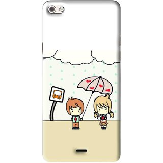 Snooky Printed Feelings in Love Mobile Back Cover For Micromax Canvas Sliver 5 Q450 - Multi