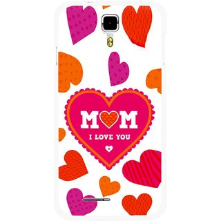 Snooky Printed Mom Mobile Back Cover For Micromax Canvas Juice A177 - Multicolour