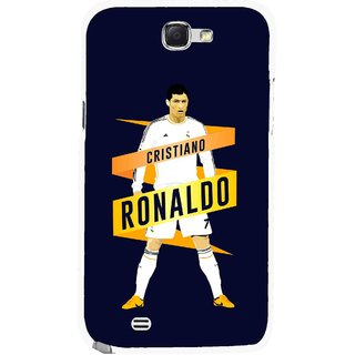Snooky Printed Ronaldo Mobile Back Cover For Samsung Galaxy Note 2 - Multicolour
