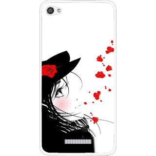 Snooky Printed Mistery Girl Mobile Back Cover For Micromax Canvas Hue 2 - Multi
