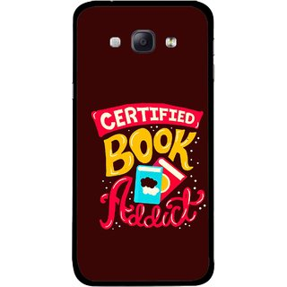 Snooky Printed Reads Books Mobile Back Cover For Samsung Galaxy A8 - Multicolour