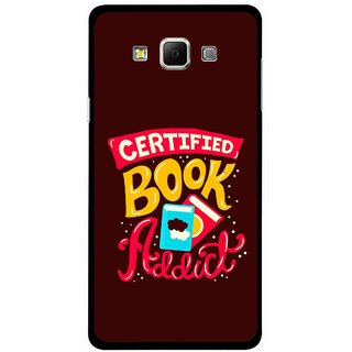 Snooky Printed Reads Books Mobile Back Cover For Samsung Galaxy E7 - Multicolour