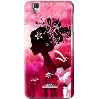Snooky Printed Pink Lady Mobile Back Cover For Coolpad Dazen F2 - Multi