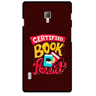 Snooky Printed Reads Books Mobile Back Cover For Lg Optimus L7 II P715 - Multicolour