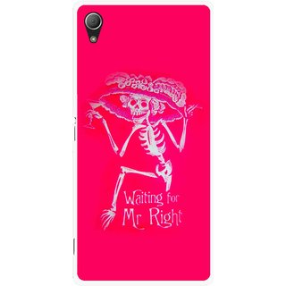 Snooky Printed Mr.Right Mobile Back Cover For Sony Xperia Z3 Plus - Multi