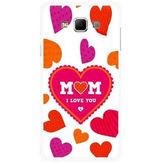 Snooky Printed Mom Mobile Back Cover For Samsung Galaxy E7 - Multicolour