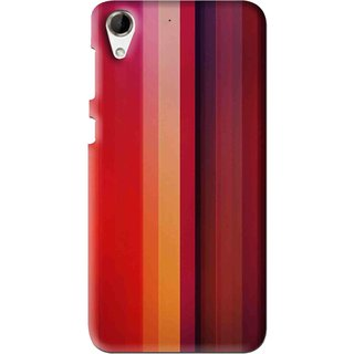 Snooky Printed Colorfull Stripes Mobile Back Cover For HTC Desire 728 - Multi