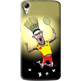 Snooky Printed Adivasi Sports Mobile Back Cover For HTC Desire 828 - Multi