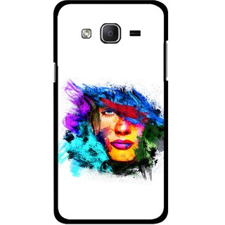 Snooky Printed Dashing Girl Mobile Back Cover For Samsung Galaxy On7 - Multicolour