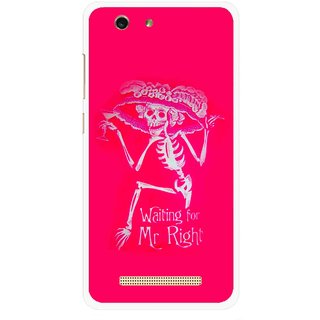Snooky Printed Mr.Right Mobile Back Cover For Gionee F103 pro - Multi