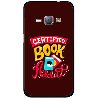 Snooky Printed Reads Books Mobile Back Cover For Samsung Galaxy J1 - Multicolour