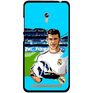 Snooky Printed Football Champion Mobile Back Cover For Asus Zenfone 6 - Multicolour