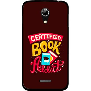 Snooky Printed Reads Books Mobile Back Cover For Micromax A114 - Multicolour
