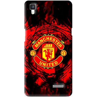 Snooky Printed Red United Mobile Back Cover For Oppo R7 - Multi