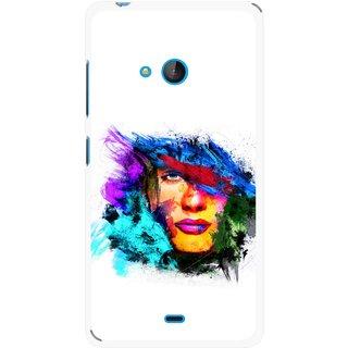 Snooky Printed Dashing Girl Mobile Back Cover For Nokia Lumia 540 - Multicolour