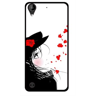 Snooky Printed Mistery Girl Mobile Back Cover For HTC Desire 630 - Multi