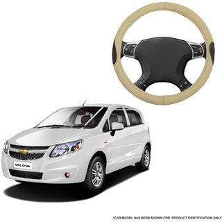 Autofurnish (AFSC-714 Russet Cream) Leatherite Car Steering Cover For Chevrolet Sail U-VA