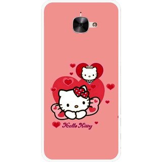 Snooky Printed Pinky Kitty Mobile Back Cover For Letv Le 2 - Multicolour