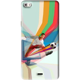 Snooky Printed Kick FootBall Mobile Back Cover For Micromax Canvas Sliver 5 Q450 - Multi
