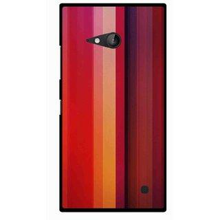 Snooky Printed Colorfull Stripes Mobile Back Cover For Nokia Lumia 730 - Multicolour