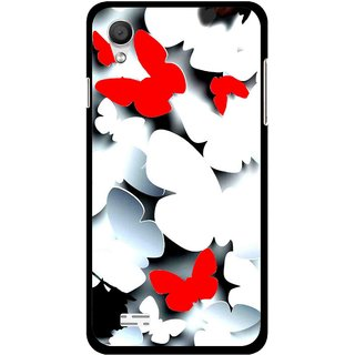 Snooky Printed Butterfly Mobile Back Cover For Vivo Y11 - Multi