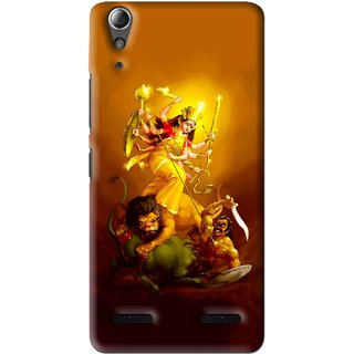 Snooky Printed Maa Durga Mobile Back Cover For Lenovo A6000 Plus - Multi