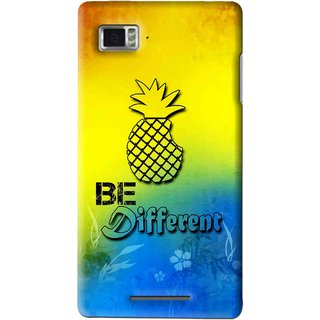 Snooky Printed Be Different Mobile Back Cover For Lenovo K910 - Multi