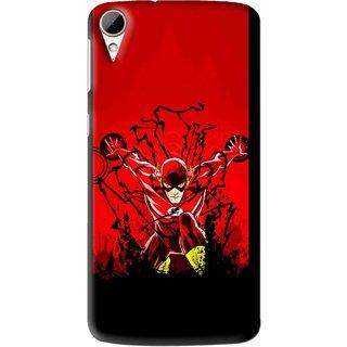 Snooky Printed Super Hero Mobile Back Cover For HTC Desire 828 - Multi