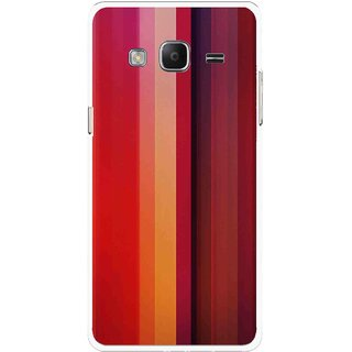 Snooky Printed Colorfull Stripes Mobile Back Cover For Samsung Tizen Z3 - Multicolour