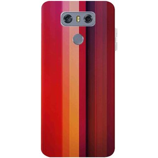 Snooky Printed Colorfull Stripes Mobile Back Cover For LG G6 - Multicolour