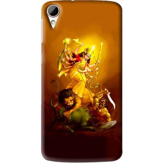 Snooky Printed Maa Durga Mobile Back Cover For HTC Desire 828 - Multi