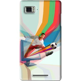 Snooky Printed Kick FootBall Mobile Back Cover For Lenovo K910 - Multi