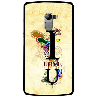 Snooky Printed Love You Mobile Back Cover For Lenovo K4 Note - Multicolour