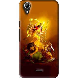 Snooky Printed Maa Durga Mobile Back Cover For Micromax Bolt Q338 - Multi