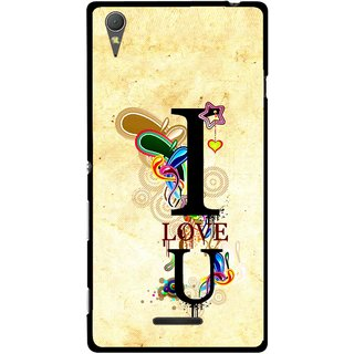 Snooky Printed Love You Mobile Back Cover For Sony Xperia T3 - Multicolour