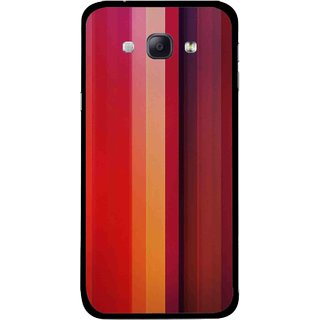 Snooky Printed Colorfull Stripes Mobile Back Cover For Samsung Galaxy A8 - Multicolour